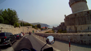 Riding through Dubrovnik