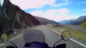 Transfăgărăşan pass, heading south