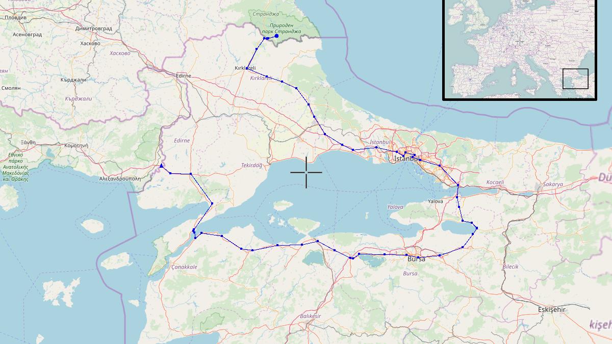 Route - 709km
